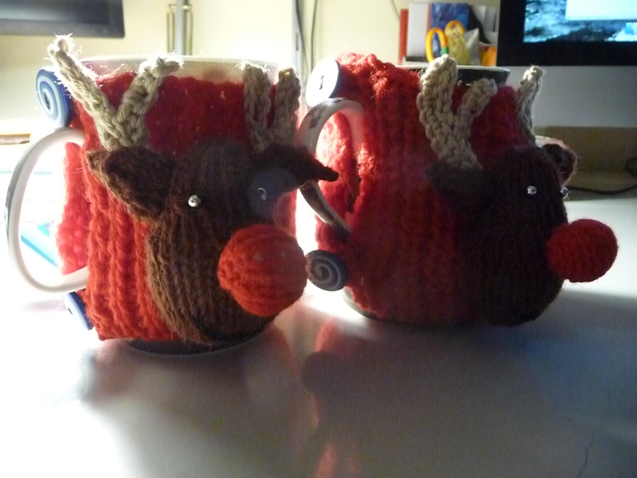 reindeer coffee cozies 2014