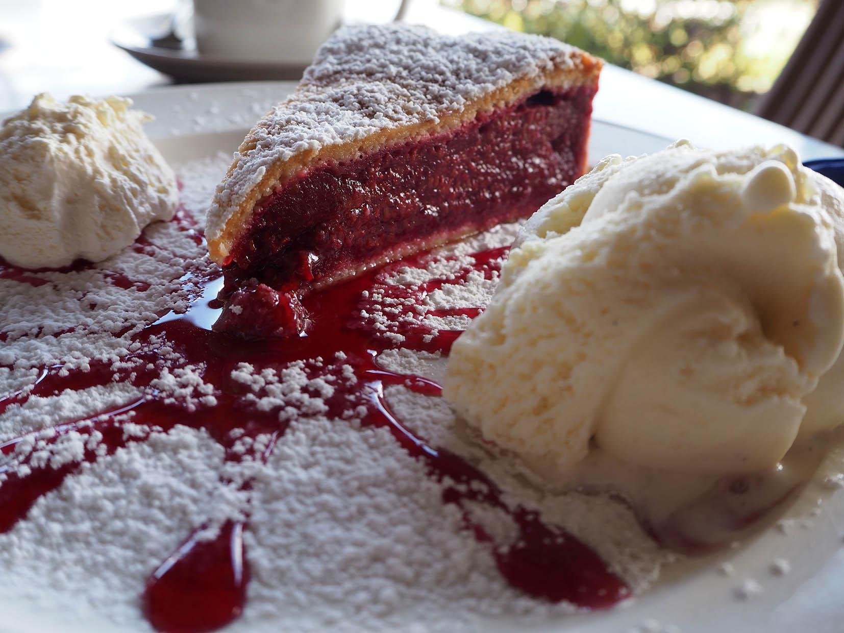 Raspberry pie at Kate's Berry Farm
