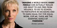 annie lennox feminism