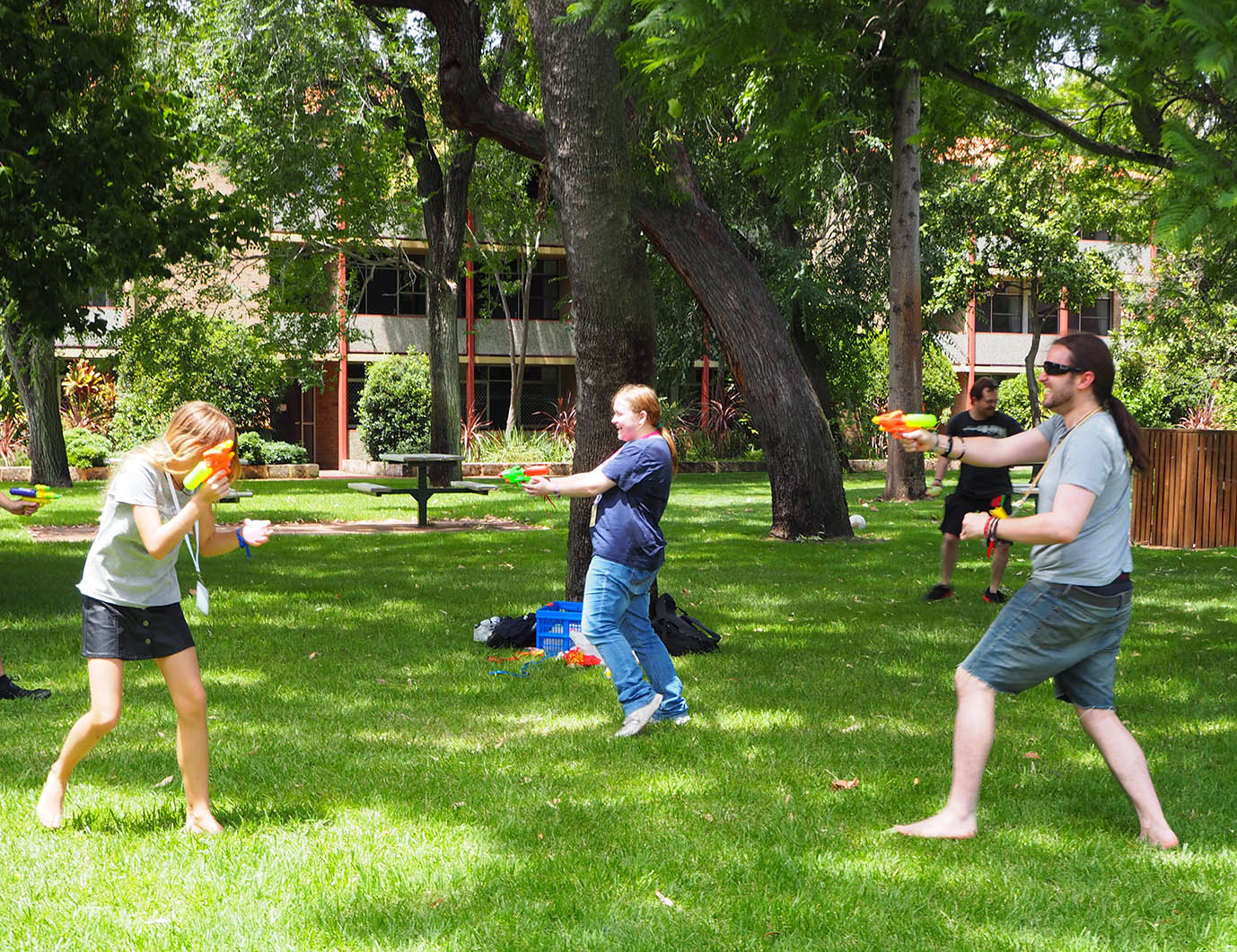 Capture the flag (aka water fights) at GenghisCon 2016