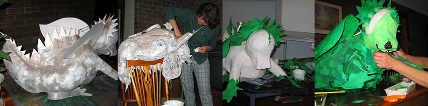 dragon pinata collage
