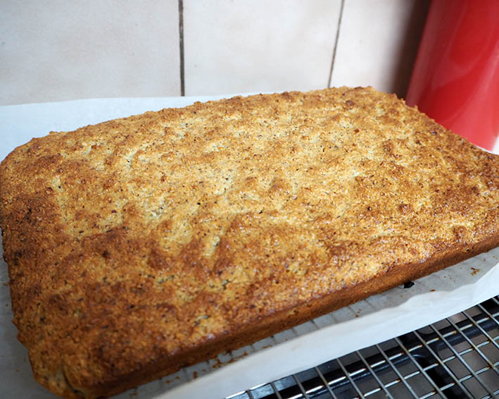 Cumquat hazelnut cake