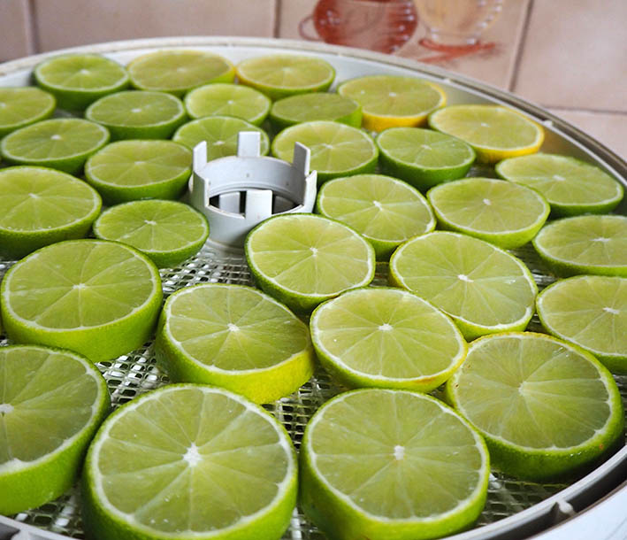 Limes drying