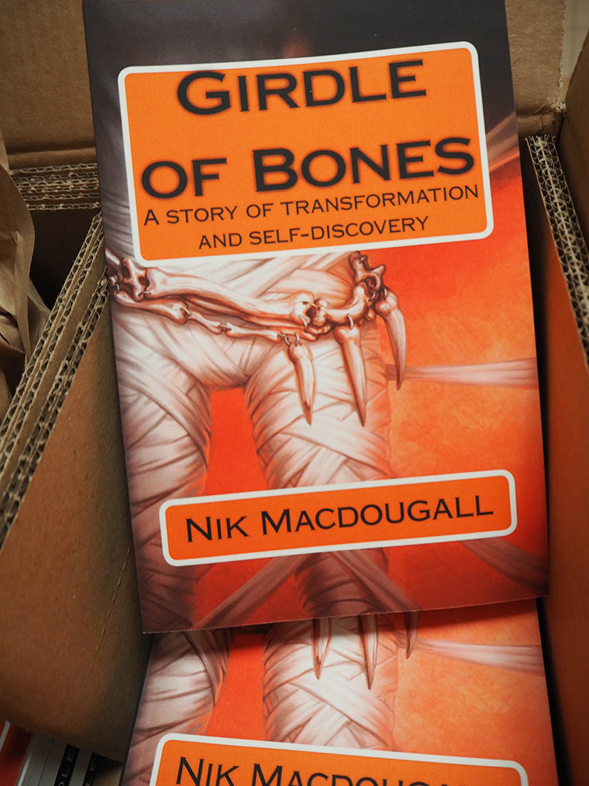 Girdle of Bones - a box of books arrived today.