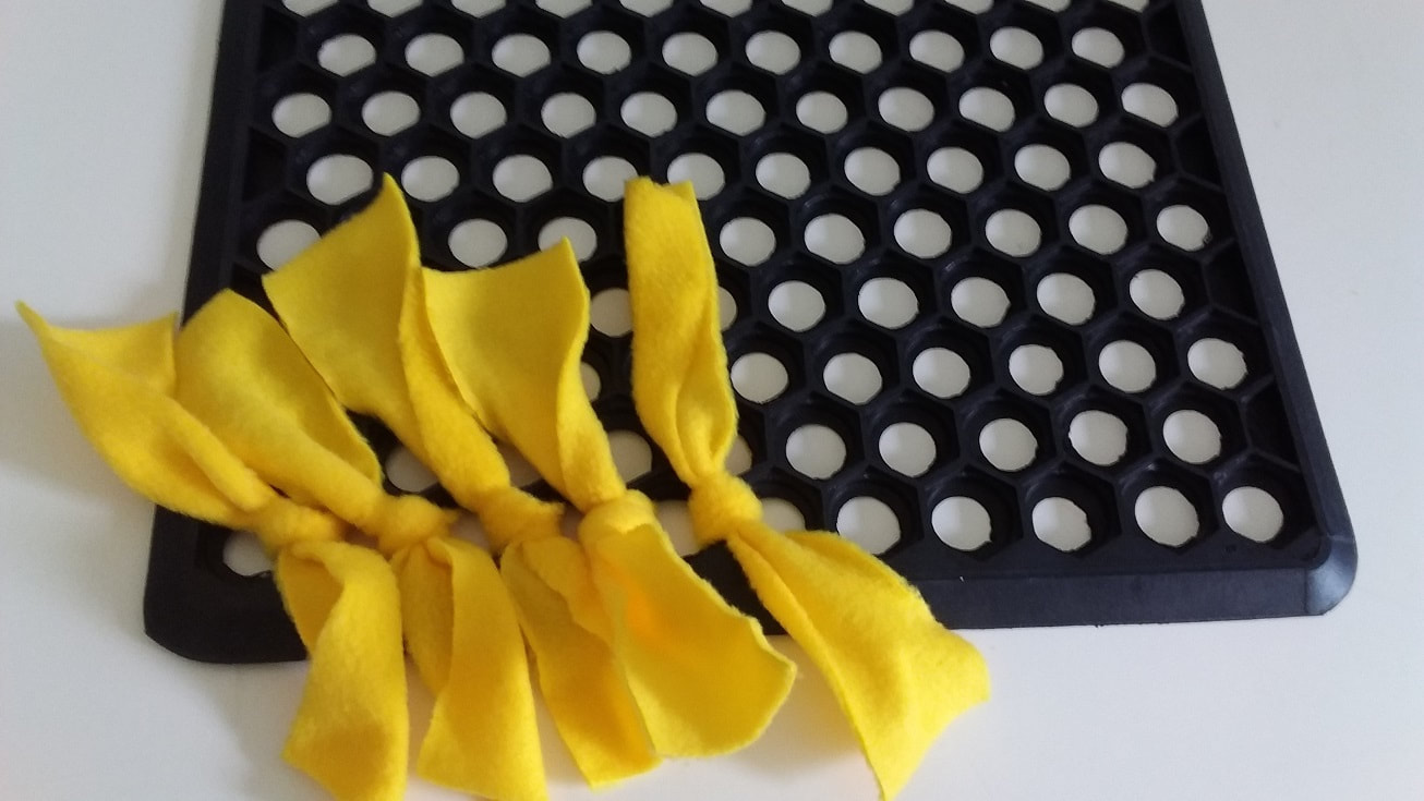 Snuffle mat - knots