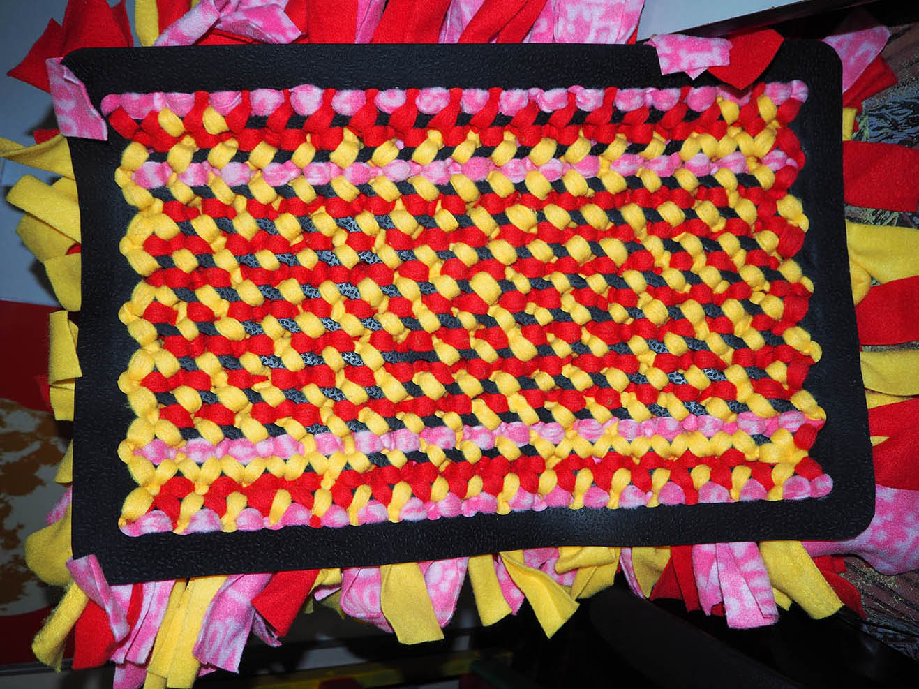 Snuffle mat - back view